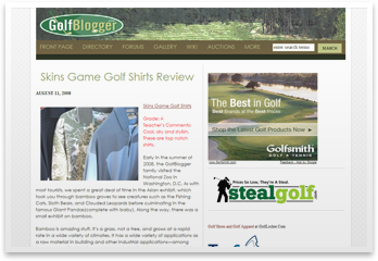 Grade A! We recieved top marks in the review of our Bamboo and Holy Moly lines on Golfblogger.com